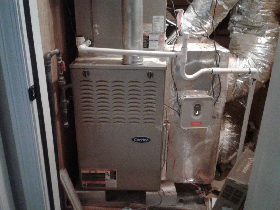 Kennesaw, GA - Performed Heat Maintenance on a Carrier Furnace with Zone system. Kennesaw