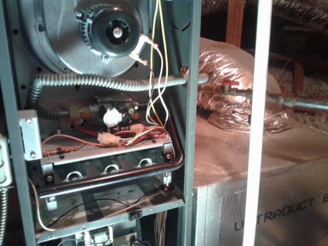 Powder Springs, GA - Performed Heat Maintenance on a Rheem Furnace. Powder Springs.