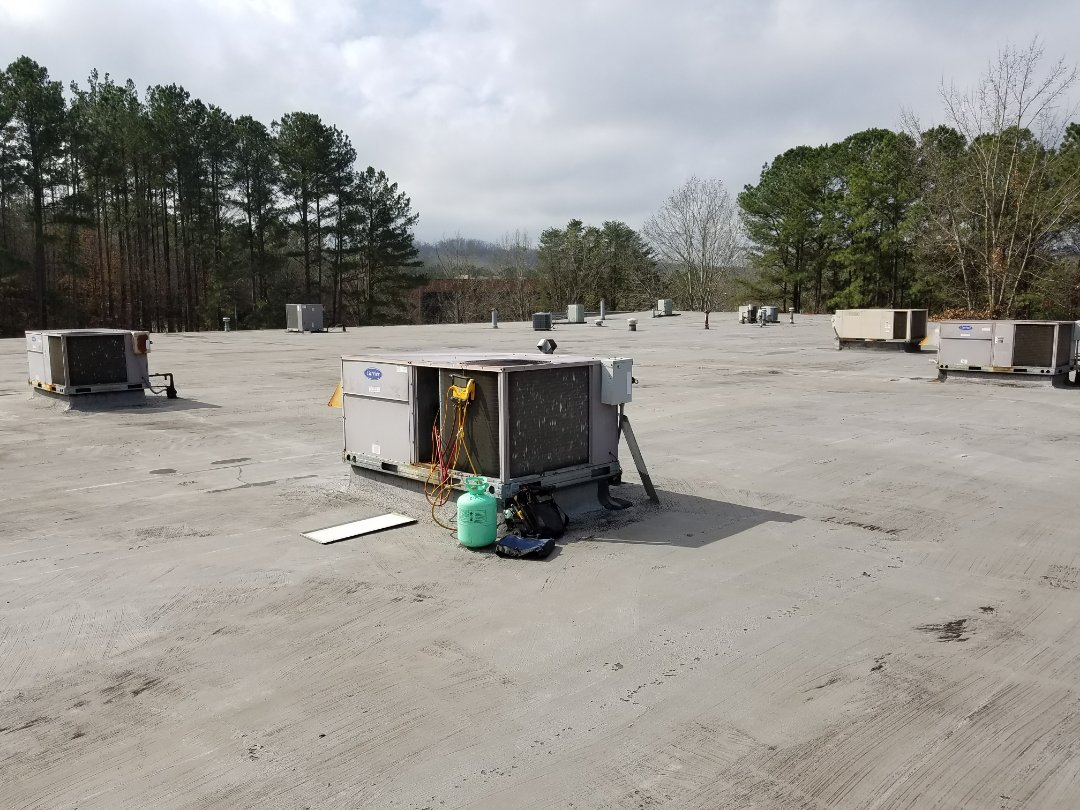 Kennesaw, GA - Performed A.C. Maintenance on 3 Carrier Gas Packs . Smyrna