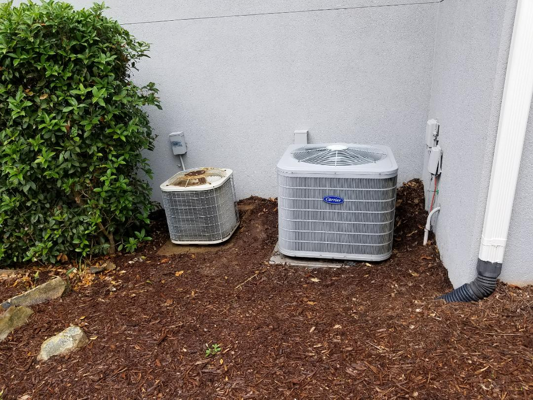 Powder Springs, GA - Performed A.C. Maintenance on a Carrier Condensing unit and a Payne condensing unit Kennesaw