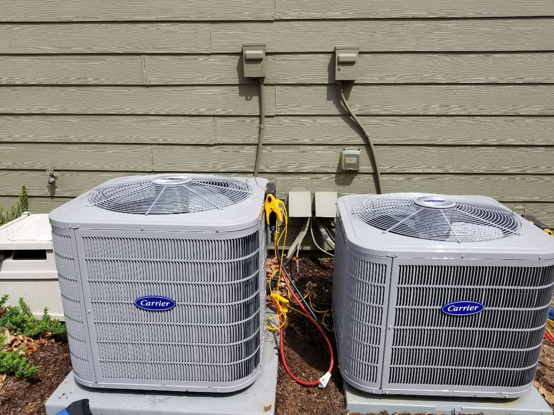 Kennesaw, GA - Performed A.C. Maintenance on 2 Carrier Condensing Units.  Kennesaw