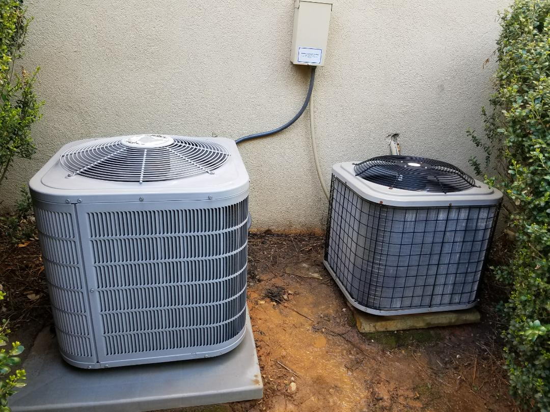 Acworth, GA - Performed A.C. Maintenance on a Carrier Condensing unit and a Payne condensing unit Kennesaw.  Acworth
