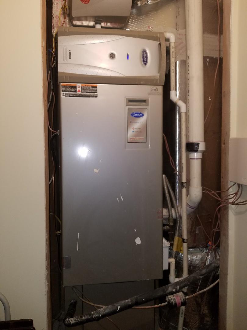 Atlanta, GA - Furnace repair, secured vibrating furnace door for quieter operation.