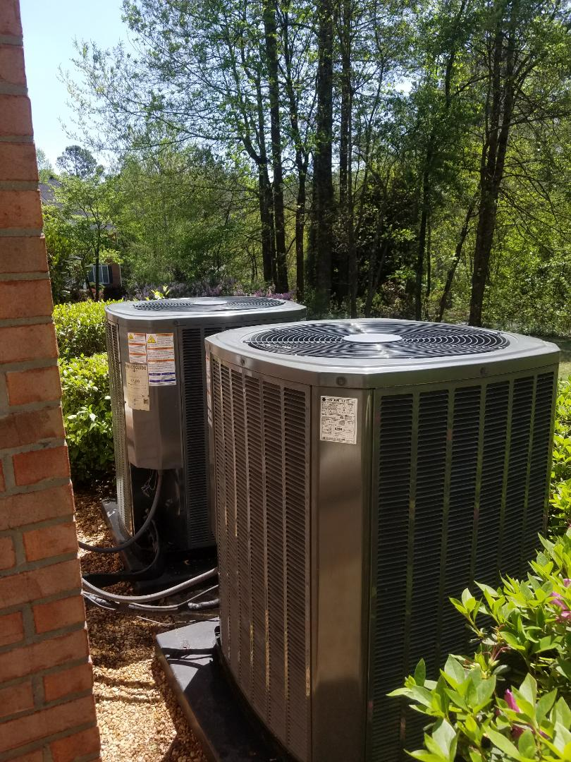 Roswell, GA - Annual cooling service on 2 Trane air conditioners.