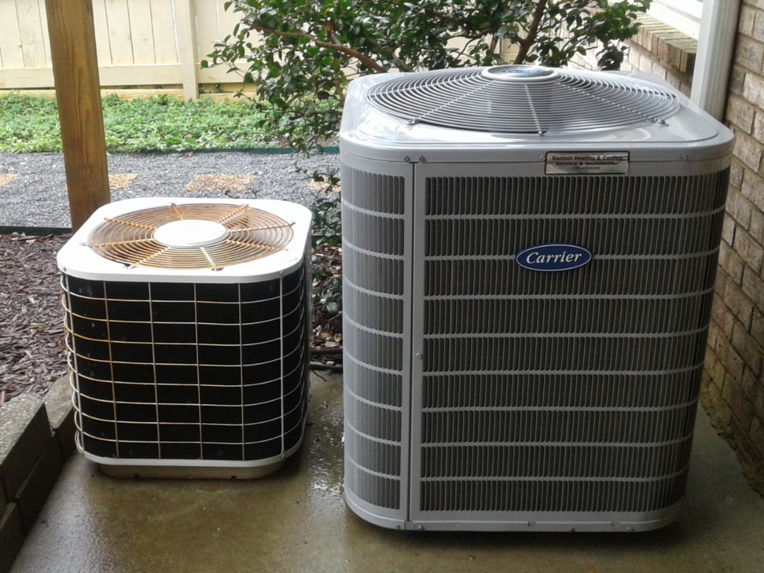 Marietta, GA - Performed AC Maintenance on a High Efficiency Carrier Condensing Unit and a Gibson condensing Unit. Marietta