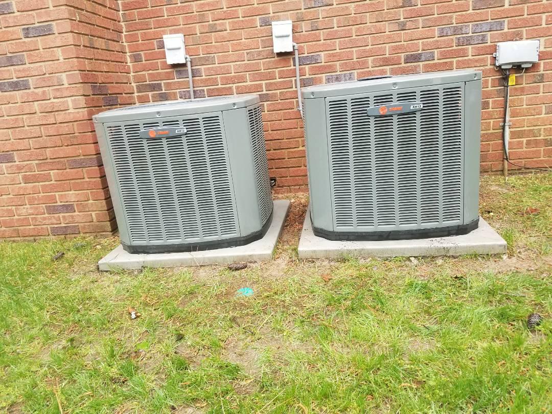 Smyrna, GA - AC Tuneup on 2 Trane Cooling System(s)