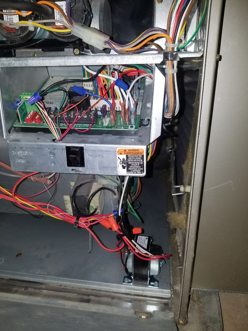 Atlanta, GA - Furnace repair, replaced 24 volt transformer under full warranty.