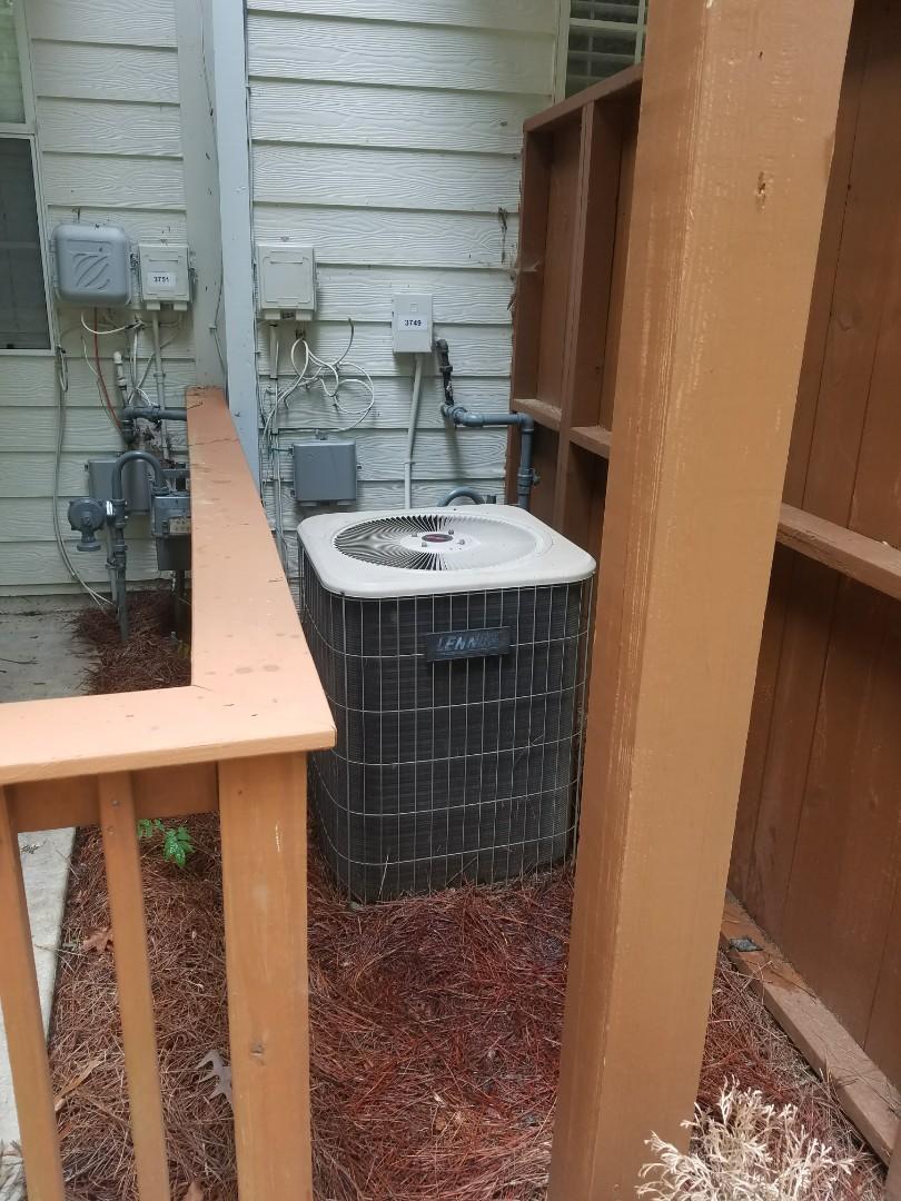 Atlanta, GA - Annual cooling service on 1 Lennox air conditioner.