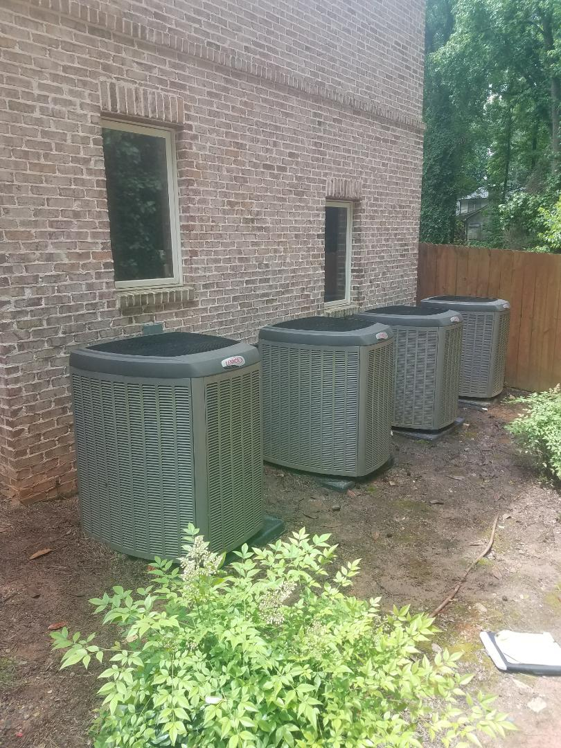 Sandy Springs, GA - Annual cooling service on 4 Lennox air conditioners.
