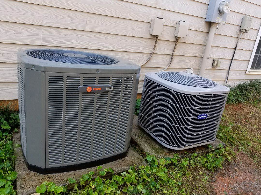 Kennesaw, GA - Performed A.C. Maintenance and Heat Check up. Trane and Carrier systems. Kennesaw
