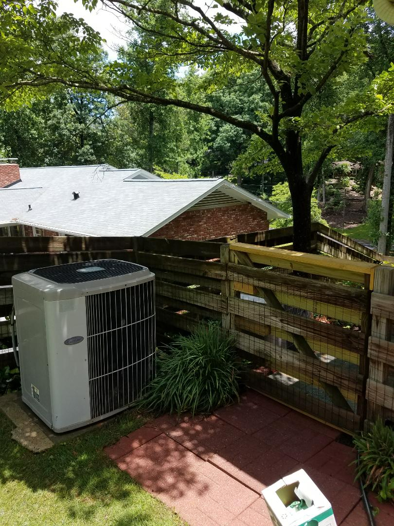 Sandy Springs, GA - Annual service on 2 Carrier air conditioners.
