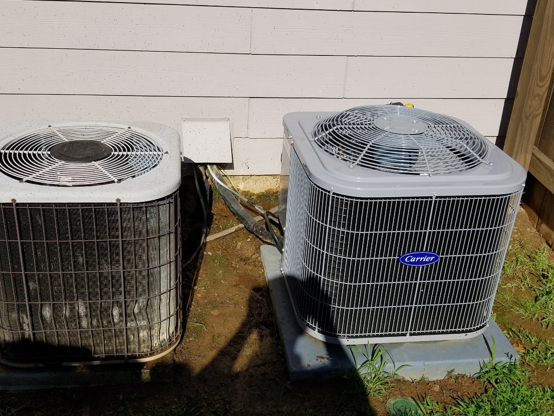 Kennesaw, GA - Performed A.C. Maintenance on a Carrier amd a Lennox Condensing Units. Kennesaw
