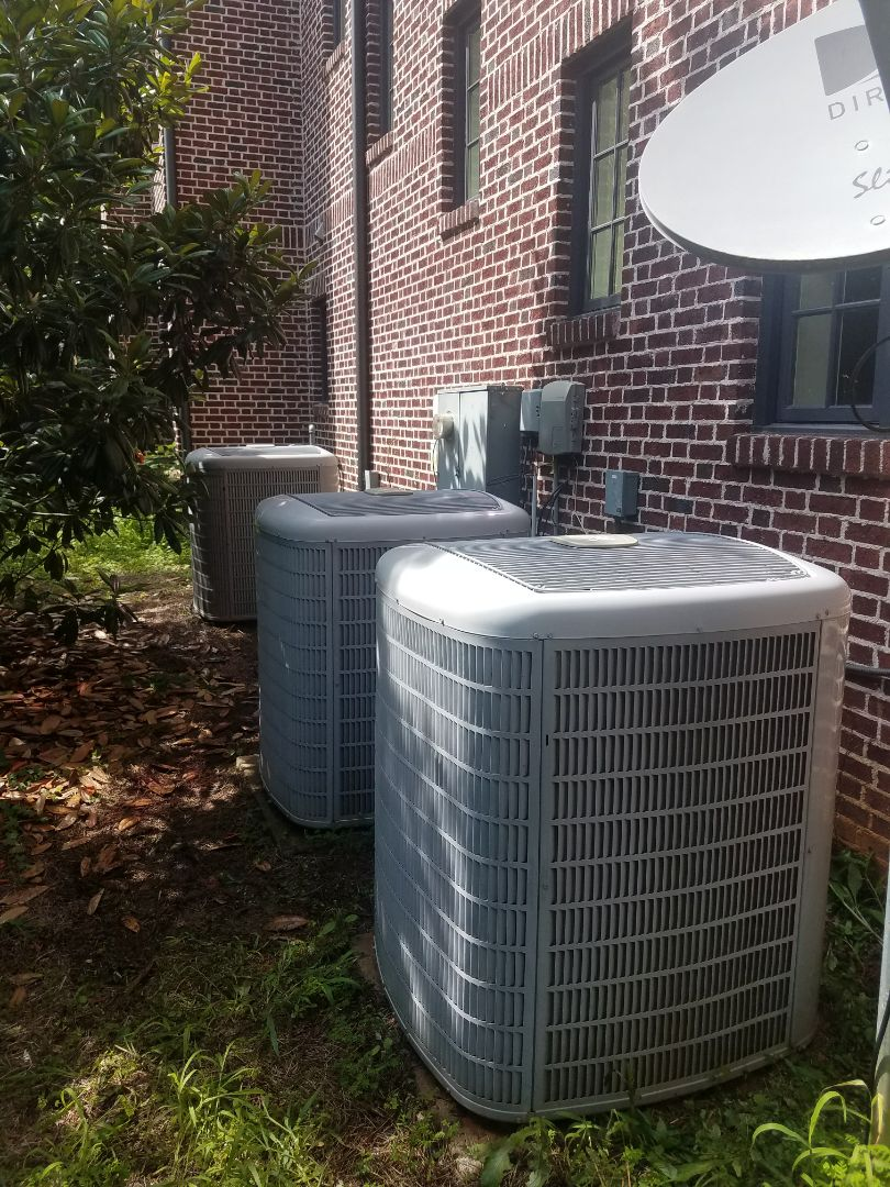 Sandy Springs, GA - Annual cooling service on 3 Carrier air conditioners.