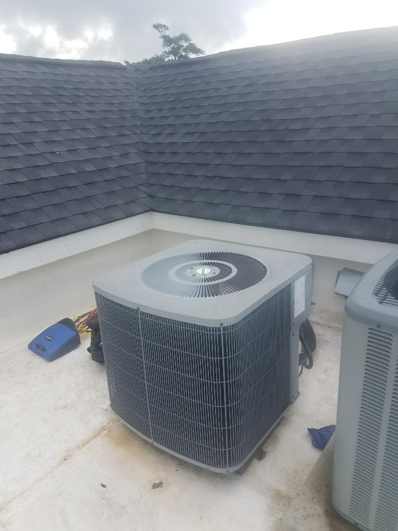 Sandy Springs, GA - Annual cooling service on 1 Air conditioner on rooftop.