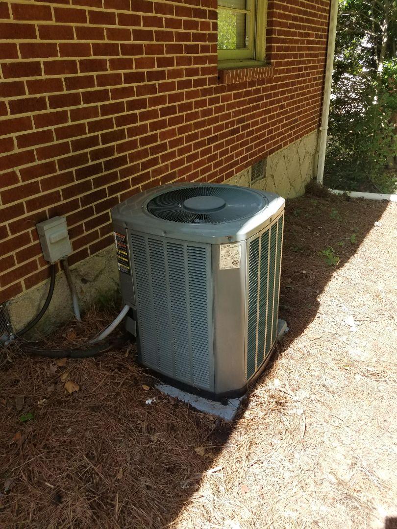 Atlanta, GA - Annual cooling service on 1 Trane air conditioner.