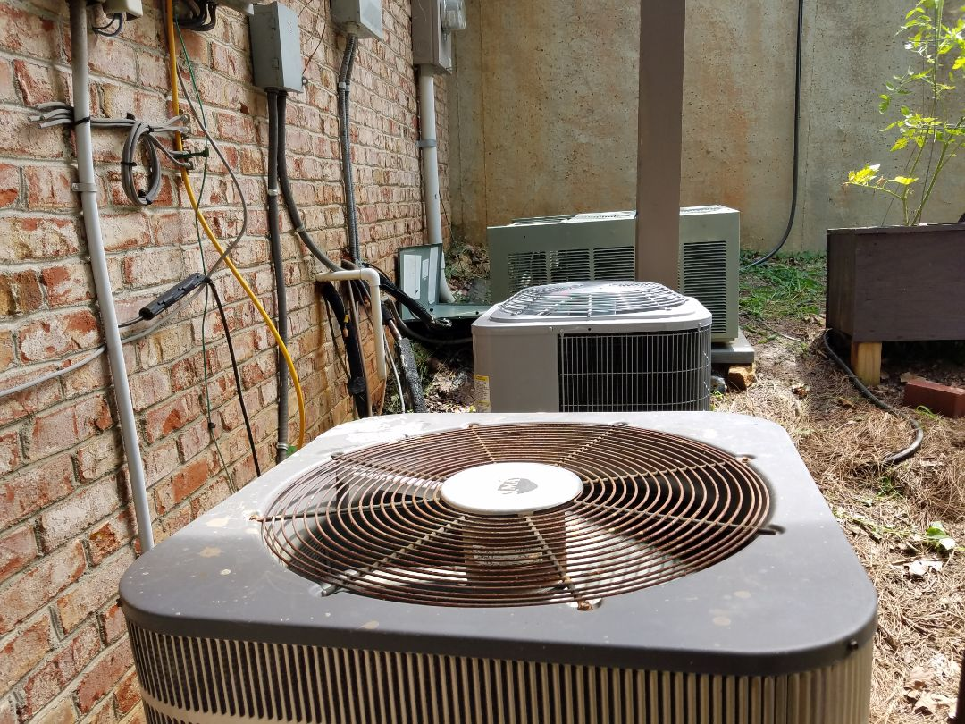 Kennesaw, GA - Performed AC Maintenance on a Carrier, Rheem and Kenmore Condensing Units. Keenesaw