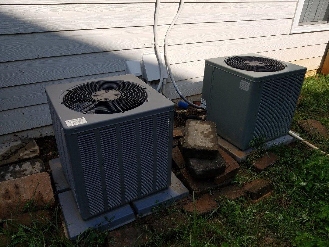 Kennesaw, GA - Performed AC Maintenance on 2 Rheem Condensing Units. Marietta