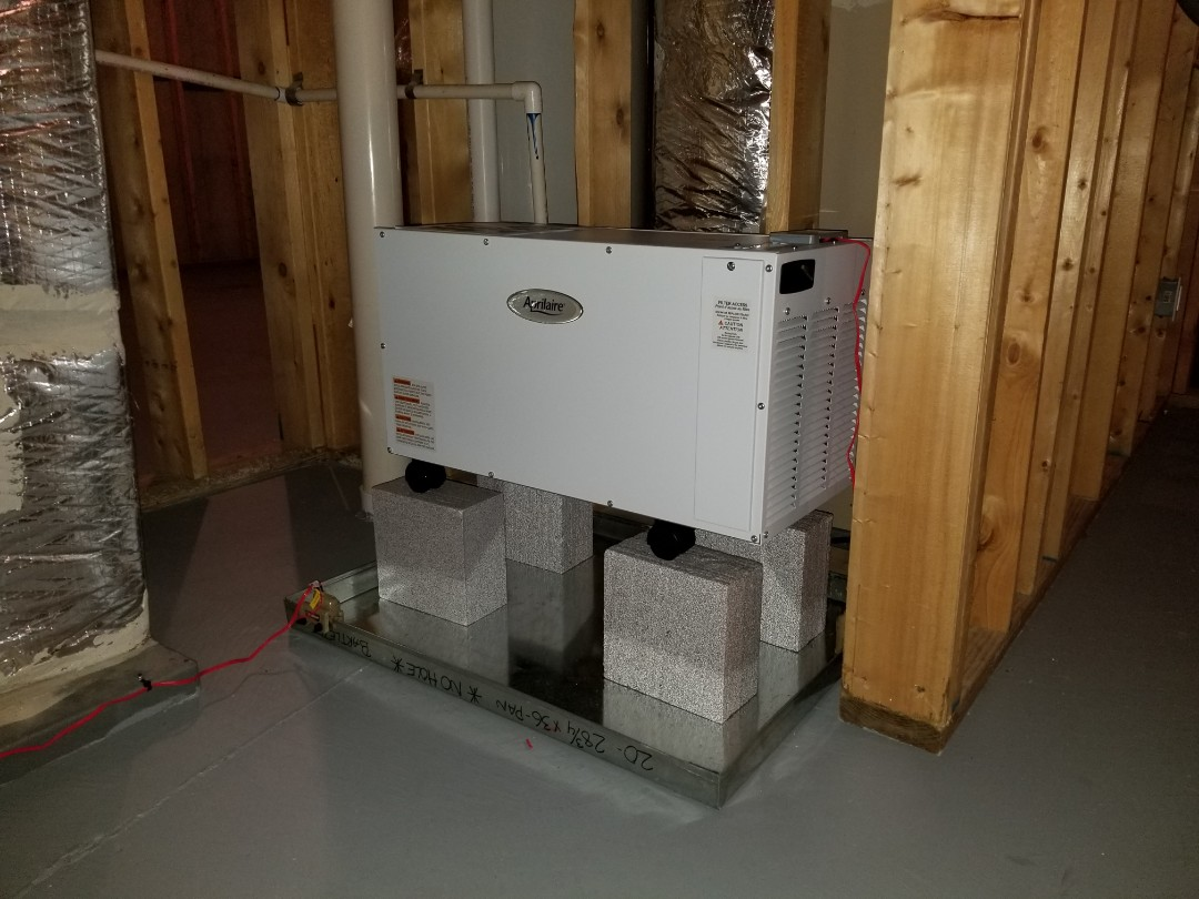 Sandy Springs, GA - Installing new Aprilaire wholehouse dehumidifier to control humidity in home