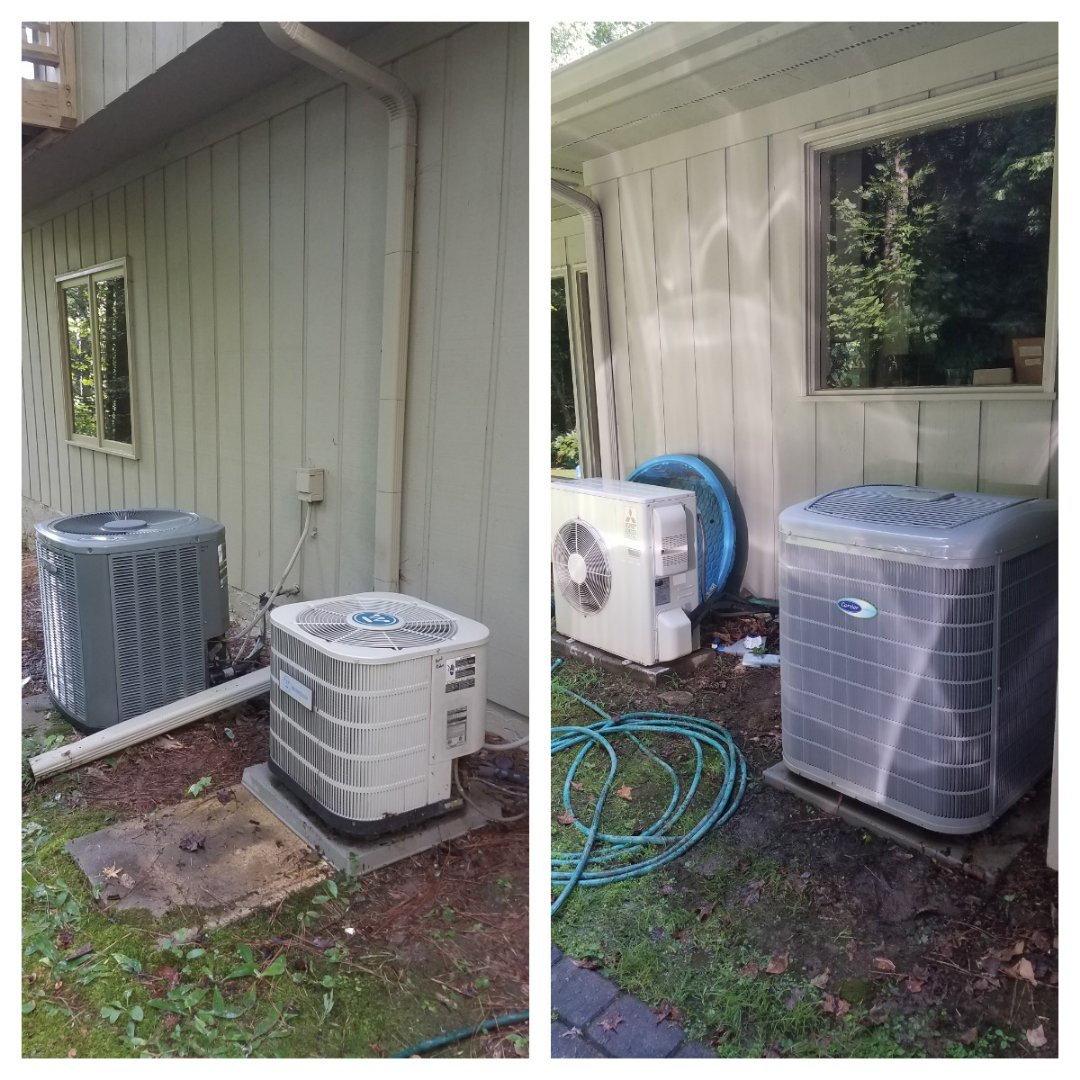 Sandy Springs, GA - Annual cooling service on 4 air conditioners.