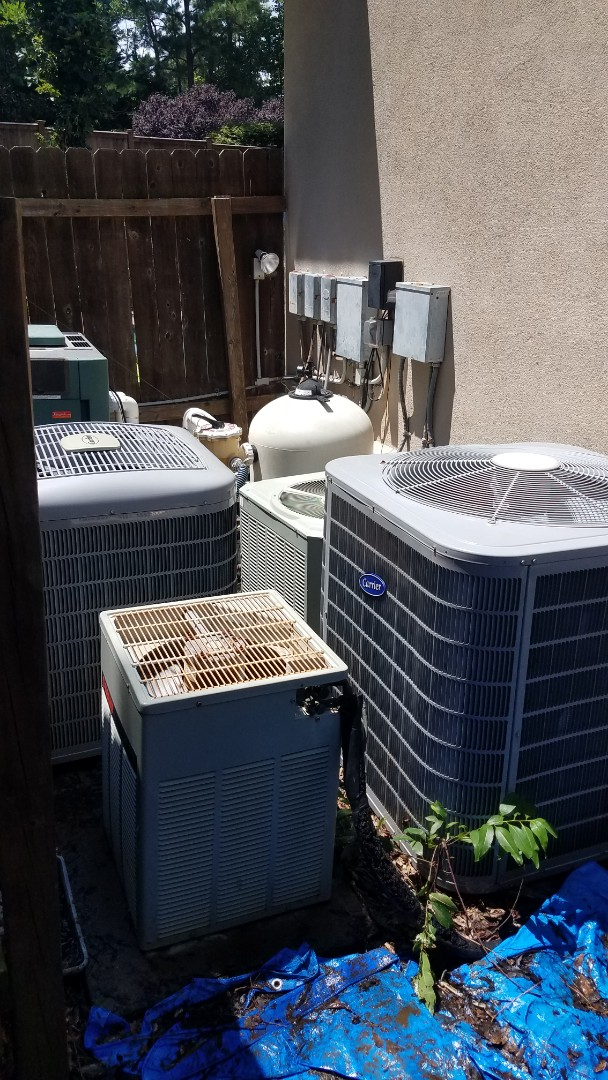 Atlanta, GA - Annual cooling service on 4 air conditioners