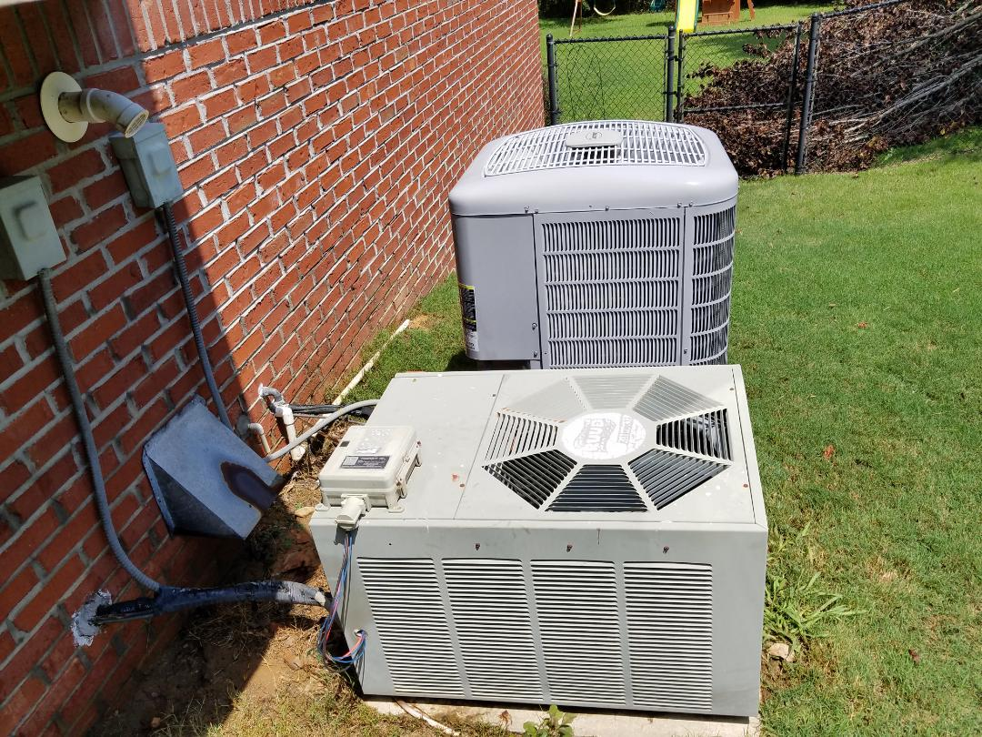 Powder Springs, GA - Performed AC Maintenance on a Carrier and a Rheem HP. Powder Springs.