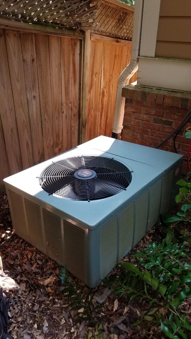 Atlanta, GA - Annual cooling service on 1 Rheem air conditioner.