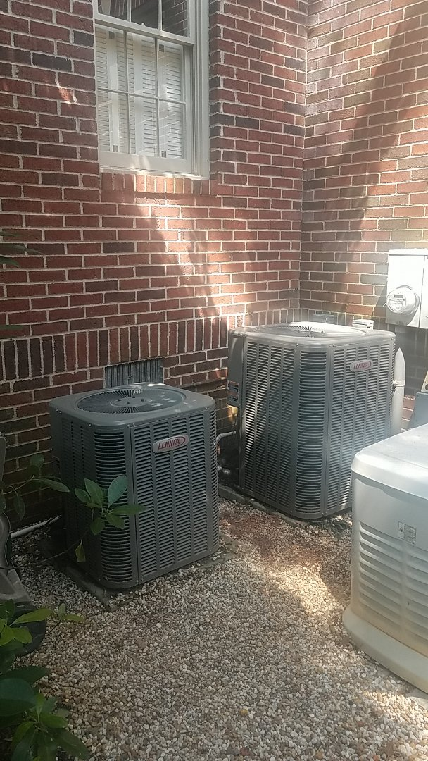 Atlanta, GA - Annual cooling service on 2 Lennox air conditioners.