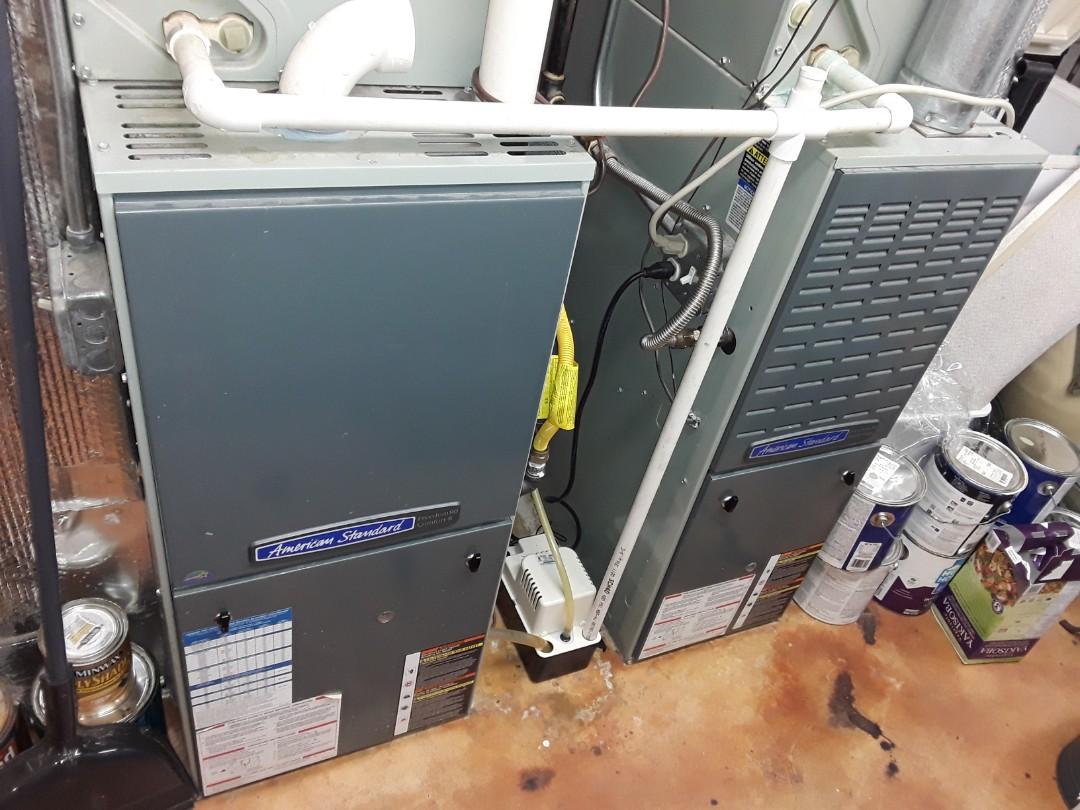 Kennesaw, GA - Performed Heat Maintenance on 2 Trane Furnaces. Kennesaw