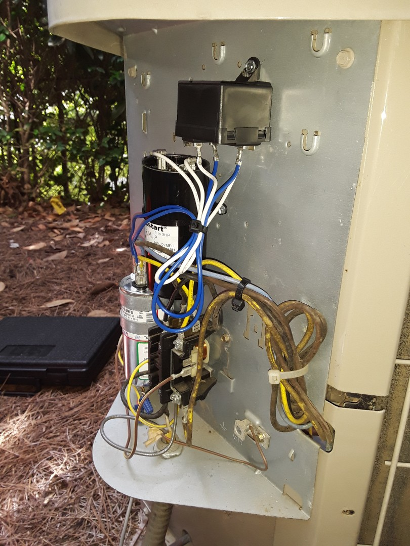 Smyrna, GA - Added R22 refrigerant and replaced start components to restore cooling to Bryant AC