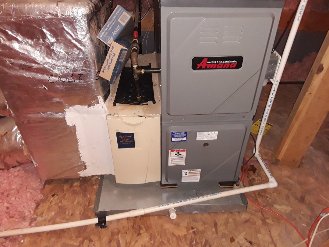 Acworth, GA - Performed Heat Maintenance on 2 Amana furnace and Air Handler. Acworth.
