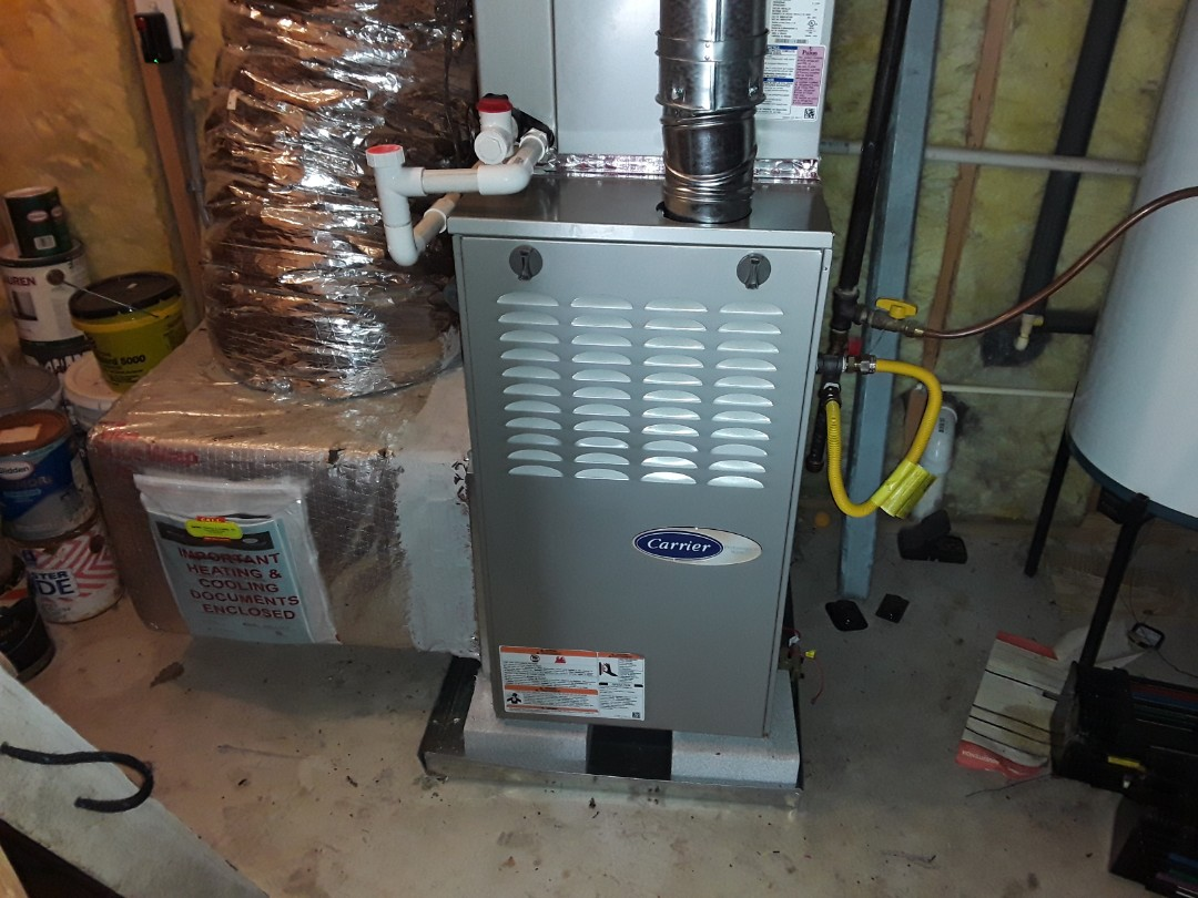Kennesaw, GA - Performed Heat Maintenance on a Carrier furnace and a Rheem.  Kennesaw