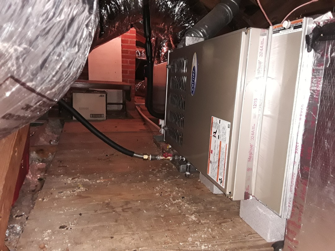 Kennesaw, GA - Performed Heat Maintenance on a Carrier furnace.  Kennesaw