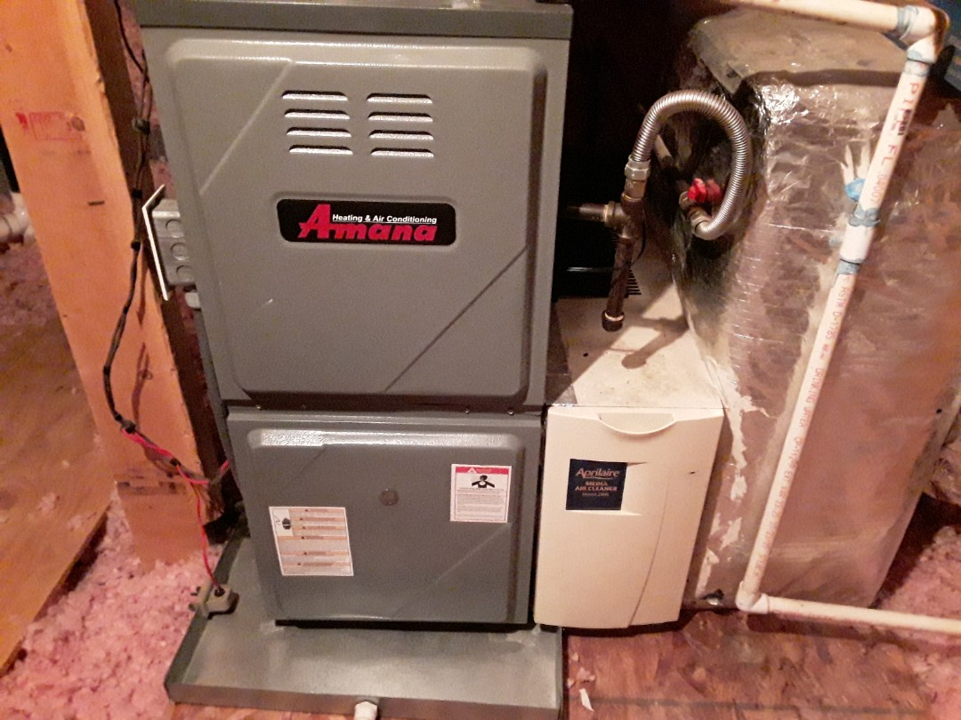 Acworth, GA - Performed Heat Maintenance on a Amana furnace and Amana Air Handler. Acworth