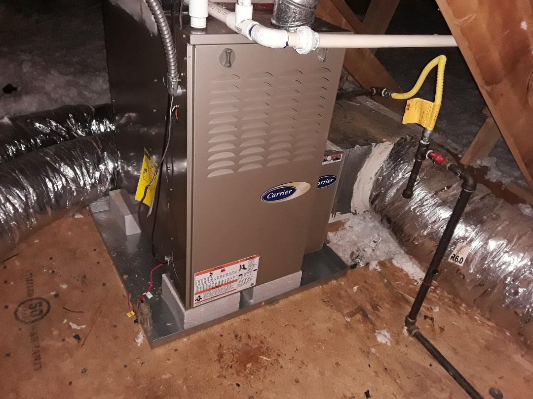 Kennesaw, GA - Performed Heat Maintenance on a Carrier and a Amana furnaces. Kennesaw