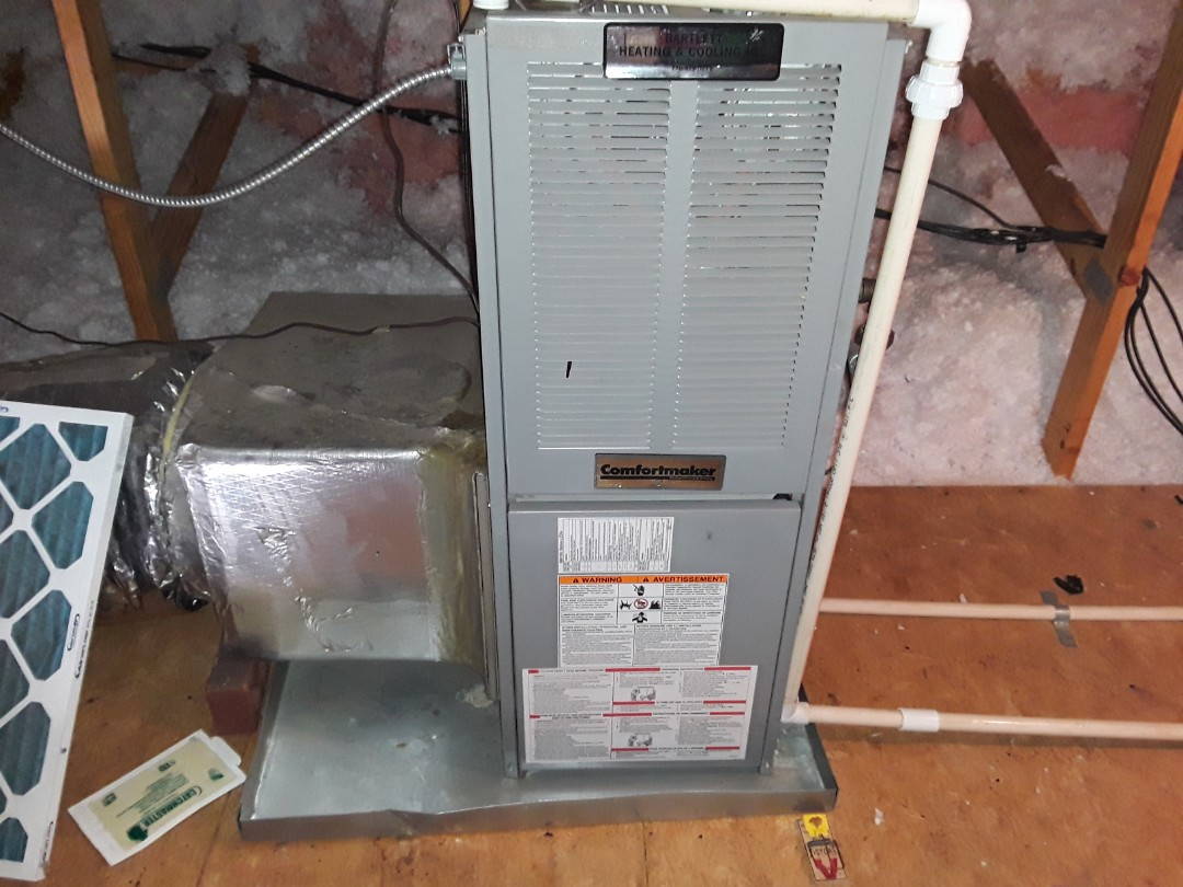 Kennesaw, GA - Performed Heat Maintenance on a Comfortmaker Furnace. Kennesaw
