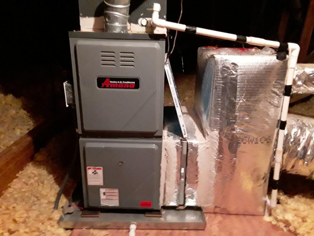 Acworth, GA - Performed Heat Maintenance on a Amana furnace.  Acworth