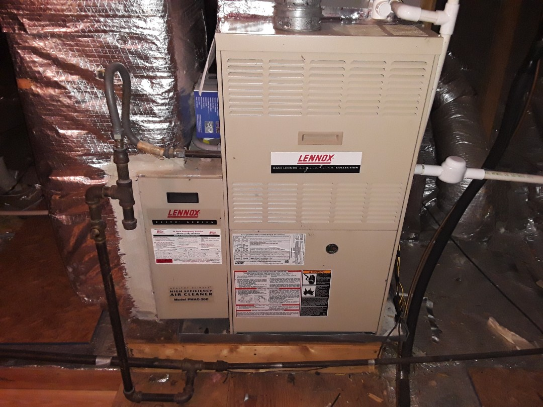 Powder Springs, GA - Performed Heat Maintenance on a Lennox furnace. Marietta