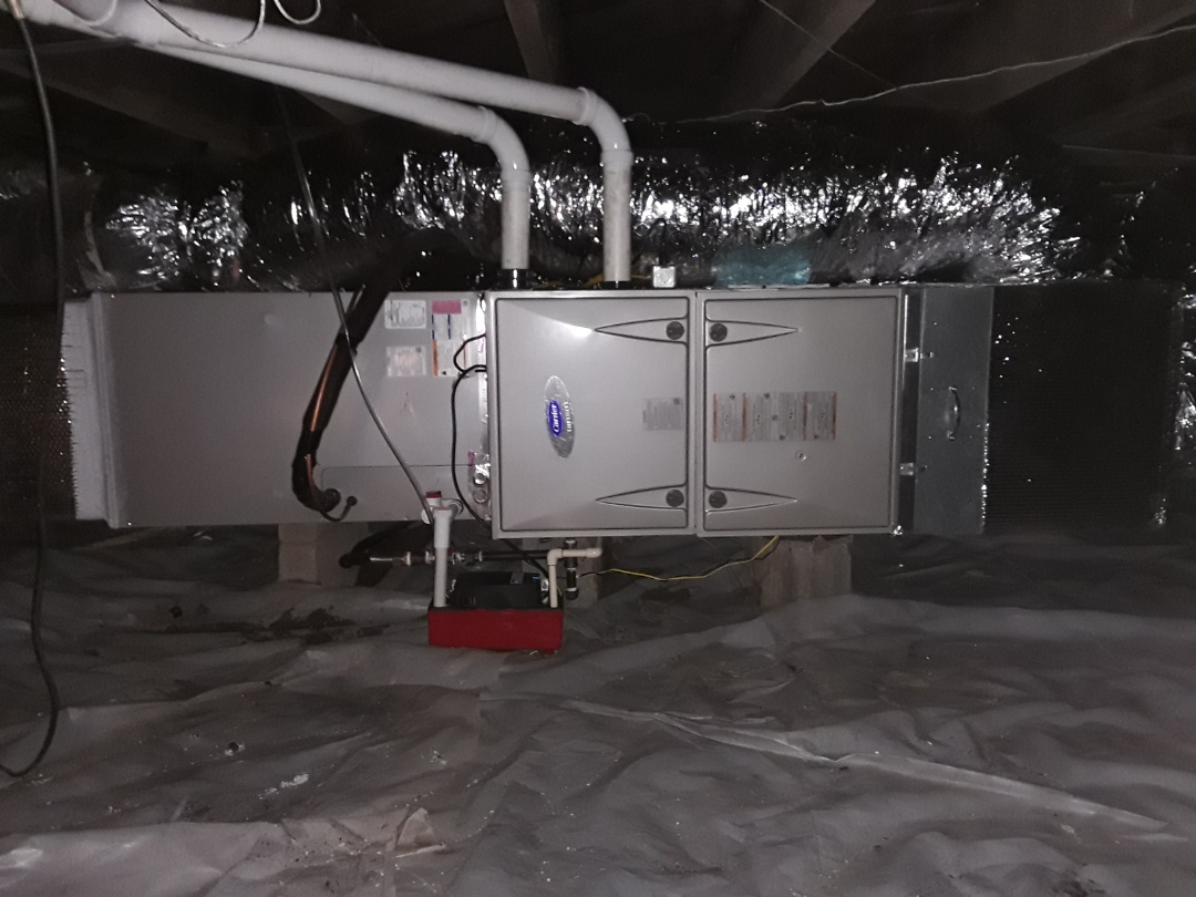 Marietta, GA - Installed new Carrier 96% Infinity gas furnace and 5 stage Condensor