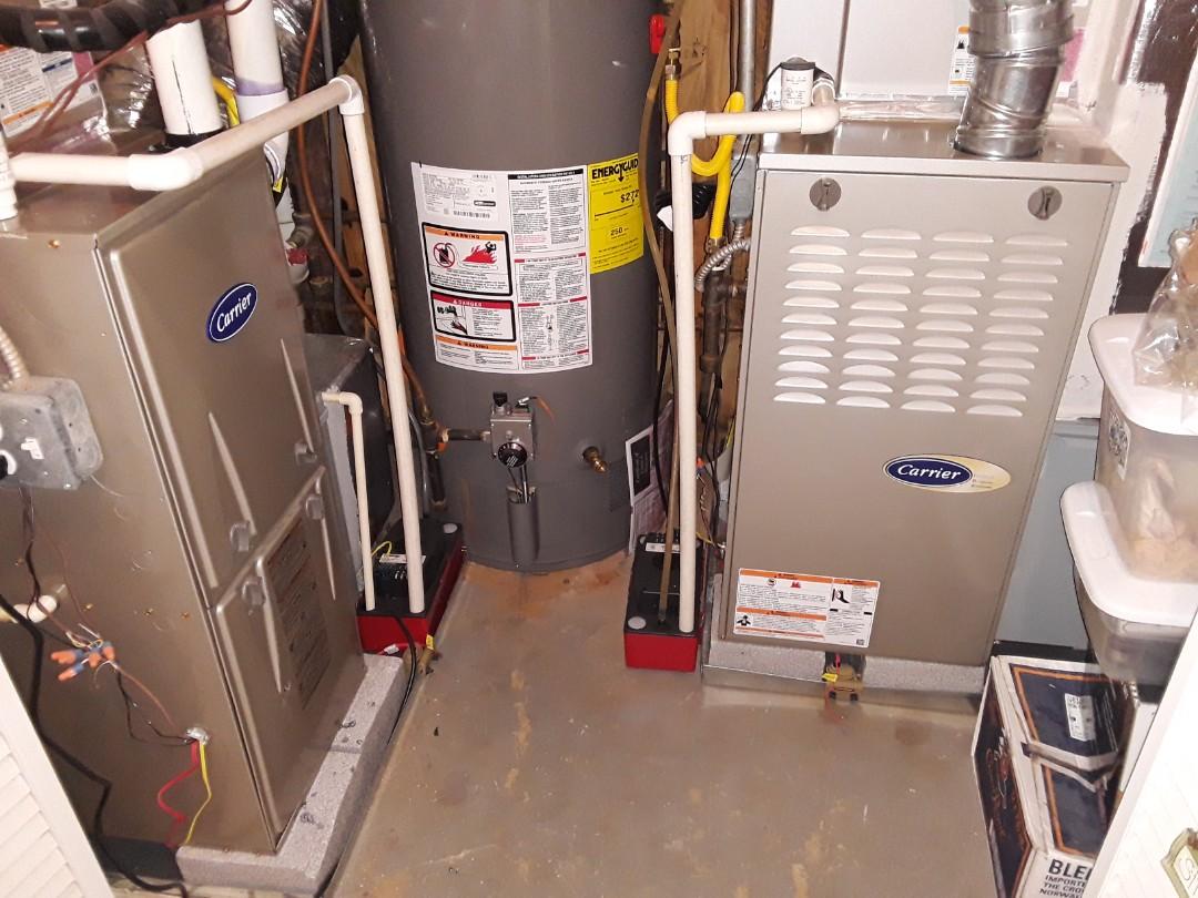 Smyrna, GA - Performed Heat Maintenance on 2 Carrier  Furnaces. Marietta