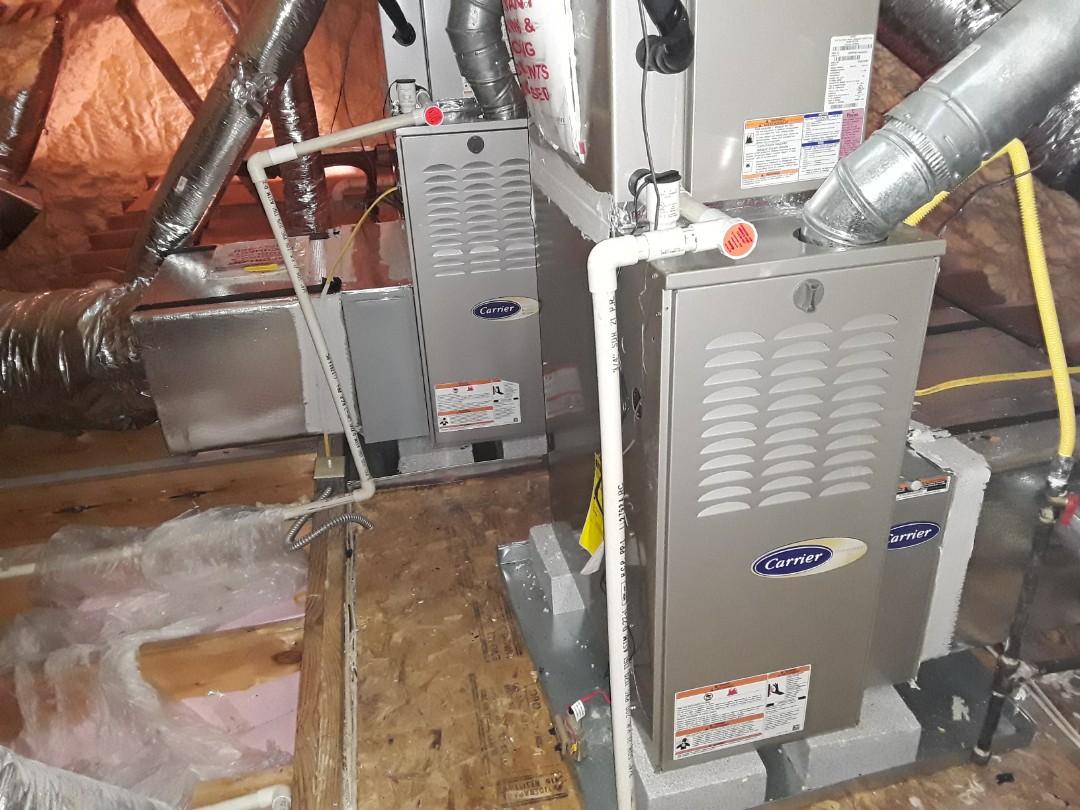 Marietta, GA - Performed Heat Maintenance on a Carrier furnace. Marietta