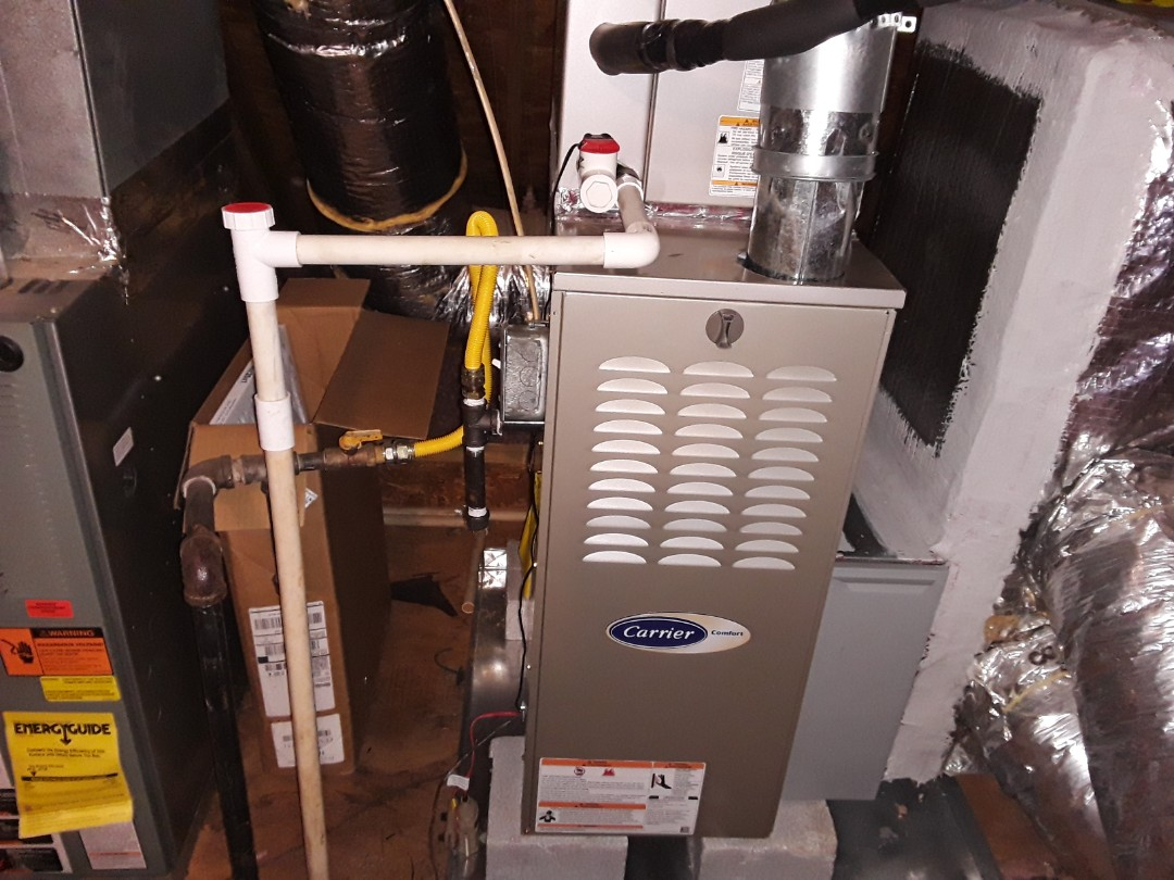 Kennesaw, GA - Performed Heat Maintenance on a Carrier and a Rheem furnaces. Kennesaw