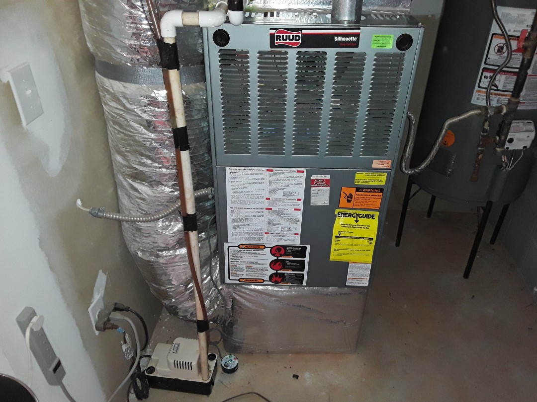 Acworth, GA - Performed Heat Maintenance on a Ruud  Furnace. Acworth