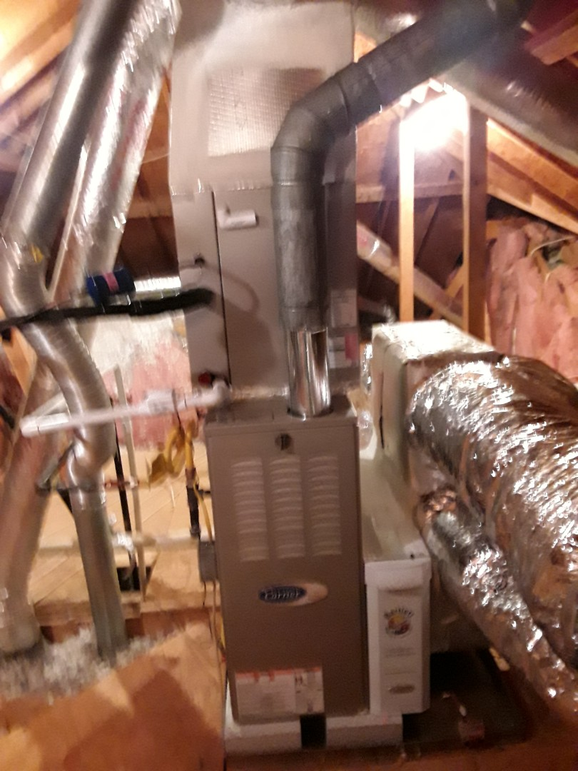 Acworth, GA - Installed new Carrier Infinity 5 stage condensor  with Infinity 2 stage variable speed gas furnace
