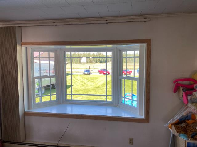 Delta Junction, AK - We got to update this customer's window to a bay window with prairie grilles because the original was not energy efficient and 35 years old!