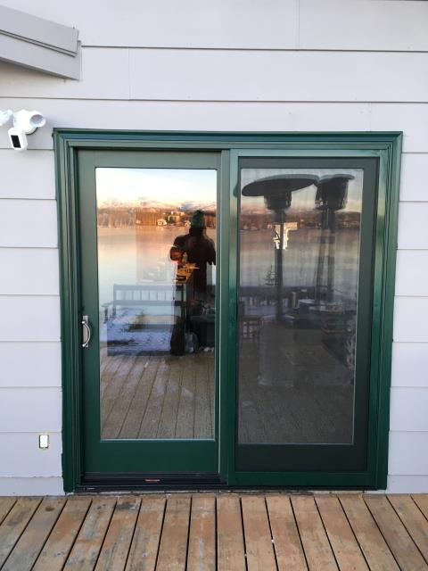 Wasilla, AK - Installed replacement windows and patio door because of age, style, cracks, and poor energy efficiency.