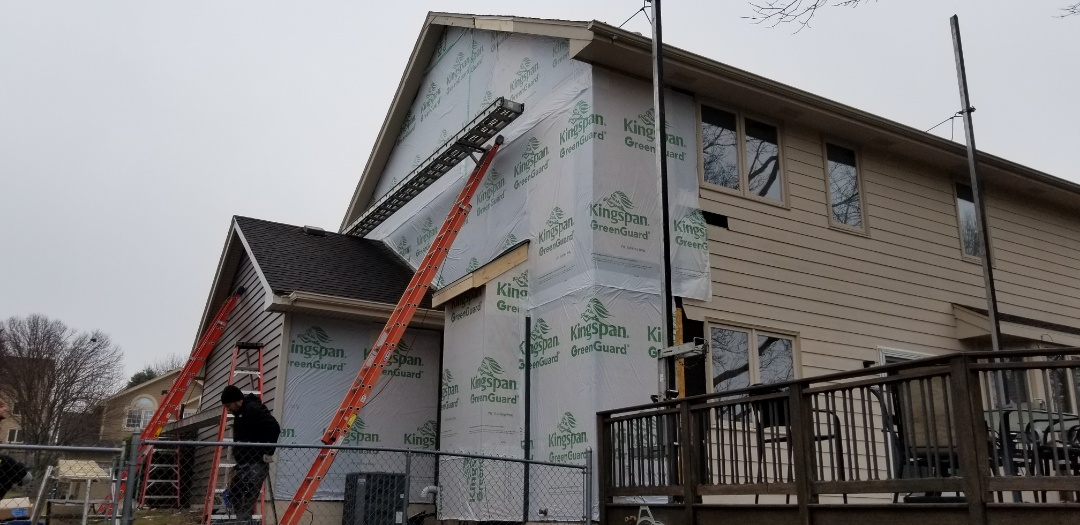 West Des Moines, IA - Siding replacement using insulated vinyl siding in West Des Moines