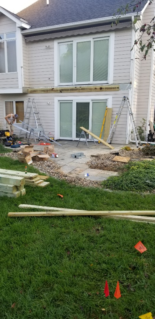 Johnston, IA - Starting the framing on this deck in Johnston