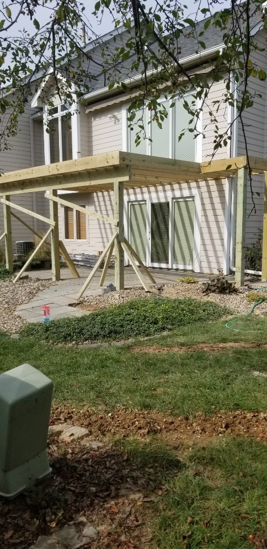 Johnston, IA - Finished the framing besides stairs good days work