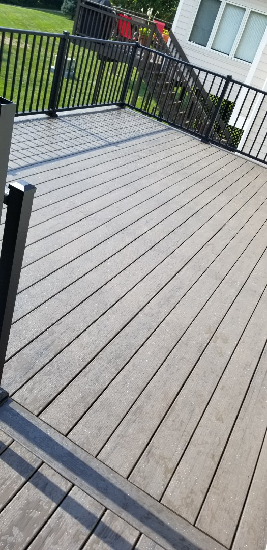 Johnston, IA - Finished all the skirting and westbury level rail on this timbertech deck.