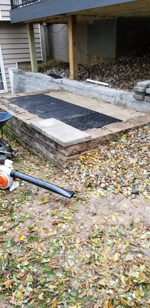 Des Moines, IA - About to start laying these pavers